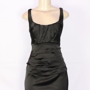 SUZI CHIN FOR MAGGY BOUTIQUE SATIN RUCHED DRESS 12